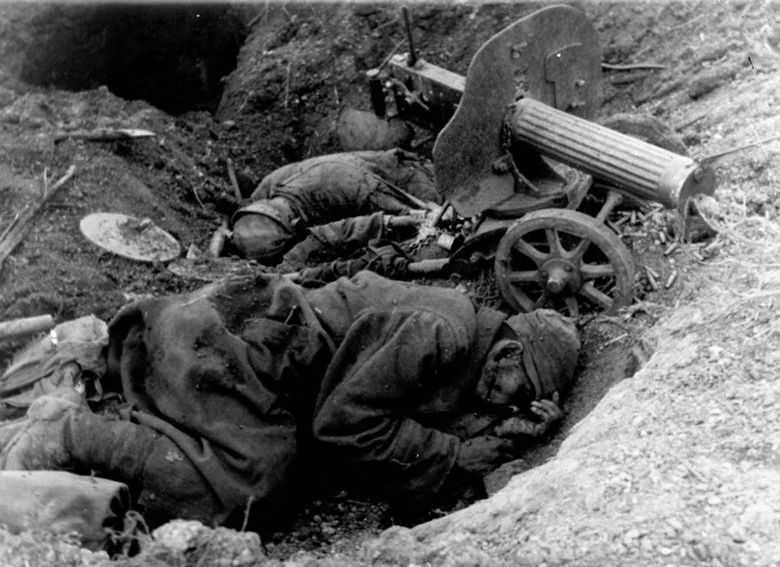 Убитые советские пулеметчики