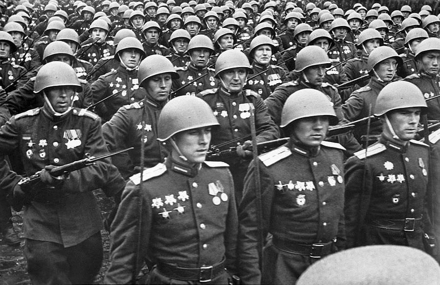 На Параде Победы