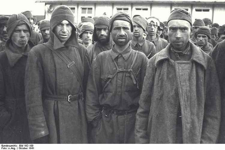 Советские военнопленные из первой партии