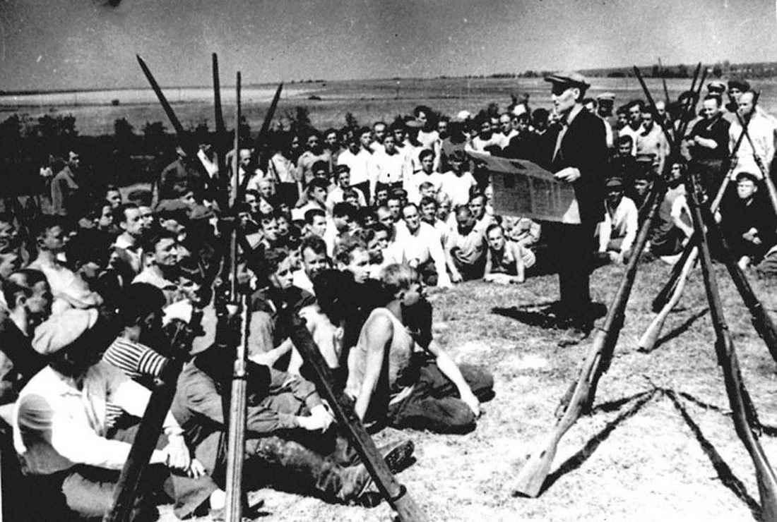 Первые дни войны, московские ополченцы