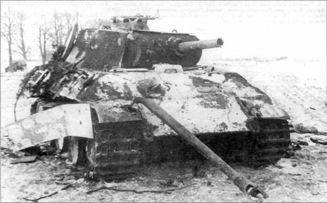 Подбитый тяжелый немецкий танк Pzkpfw V Ausf А «Пантера»