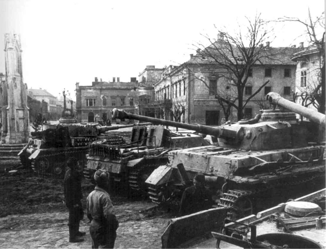 Захваченные немецкие танки и САУ
