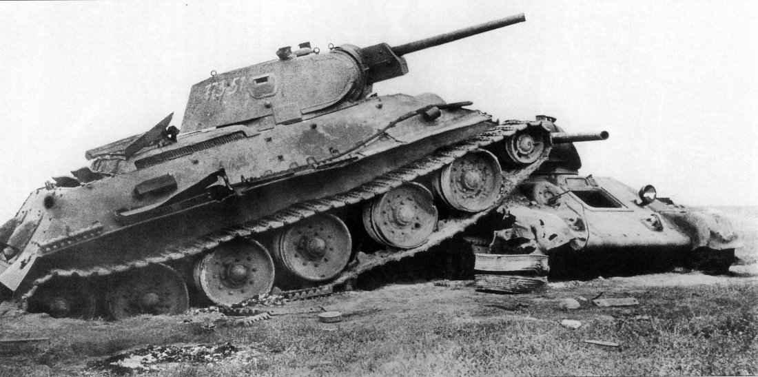 Подбитые Т-34 на Керченском полуострове