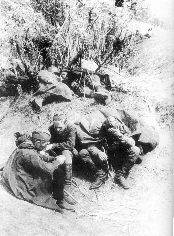 Советская пехота в перерыве между боями под Изюмом