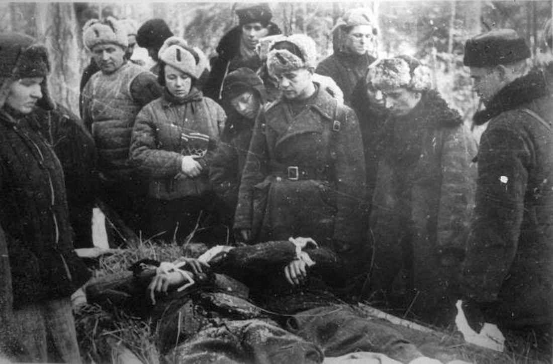 Похороны партизан отряда им. Смирнова