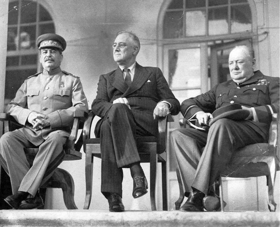 Сталин, Рузвельт и Черчилль в Тегеране