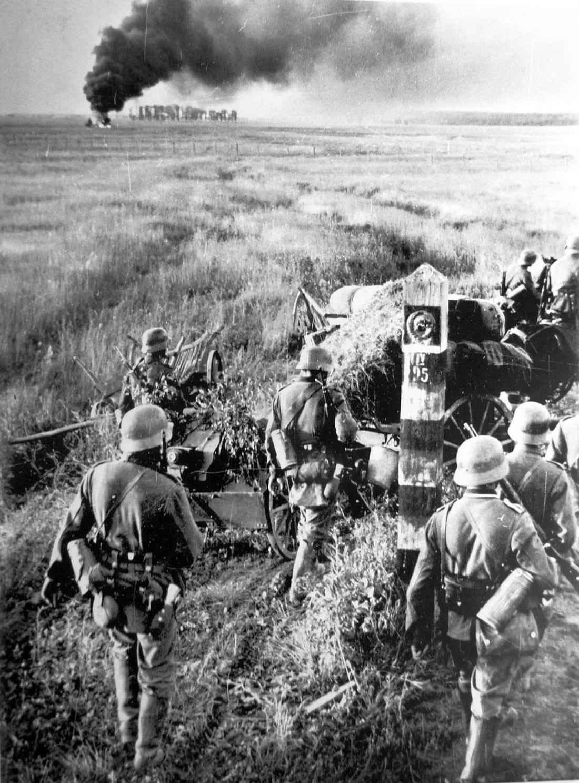 Гитлеровцы переходят государственную границу СССР