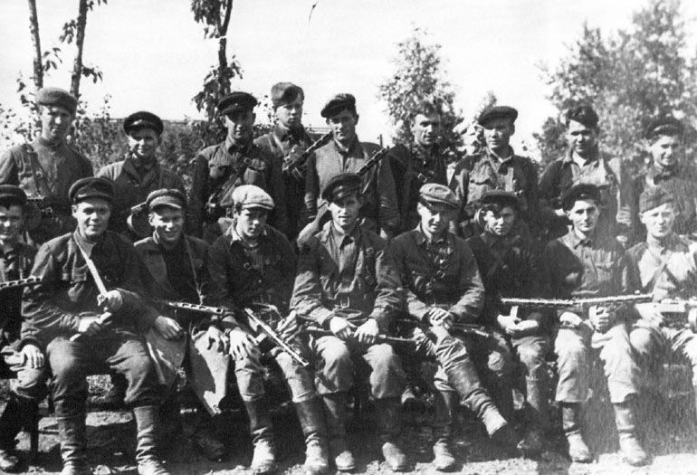 Партизаны 3-й Ленинградской партизанской бригады