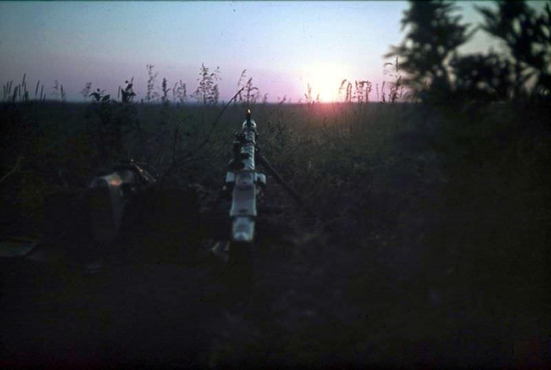 Пулемет MG-34 на немецких позициях