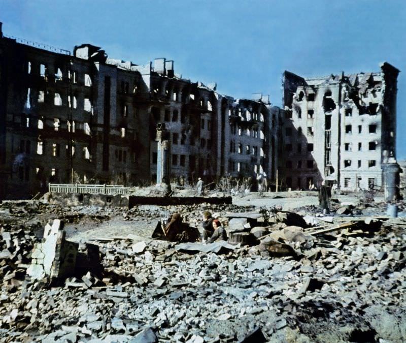 В Сталинграде после окончания боев