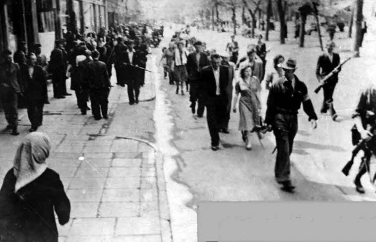 Советские граждане, схваченные полицией во время облавы