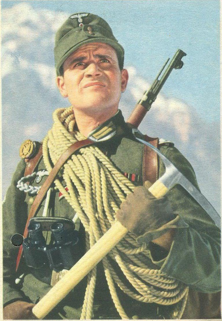 Фотопортрет немецкого горного стрелка