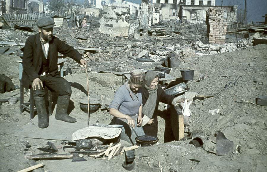 В оккупированном Сталинграде