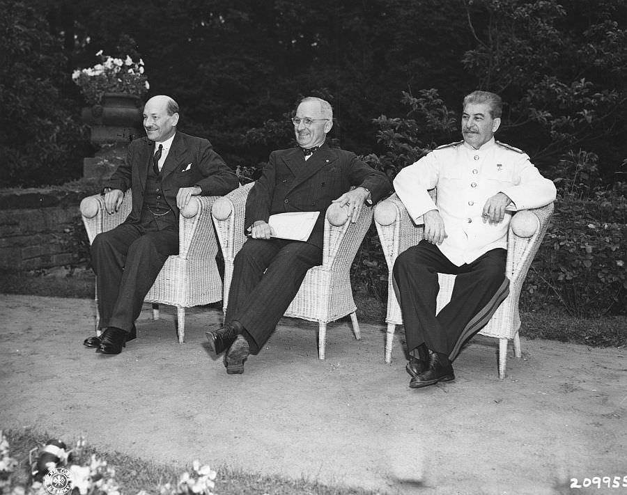 Потсдамская конференция: Сталин, Трумэн и Эттли
