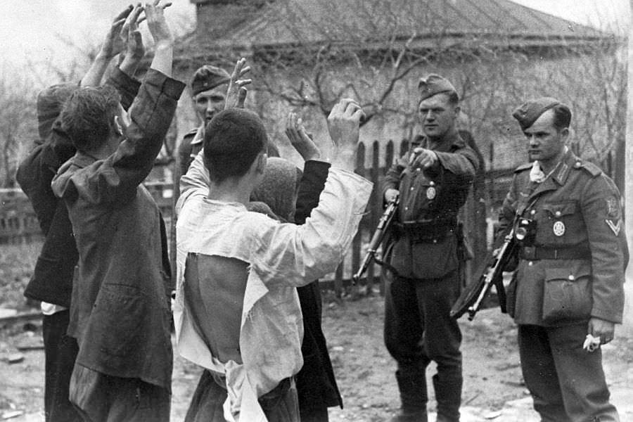 Советские граждане захваченные немцами