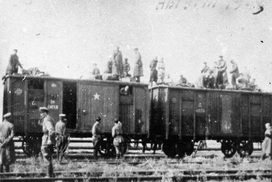 Возвращение советских солдат на Родину из Германии