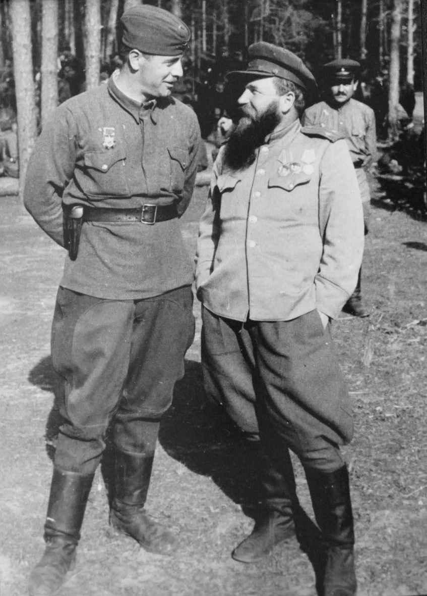 Командир партизанского соединения и командир полка