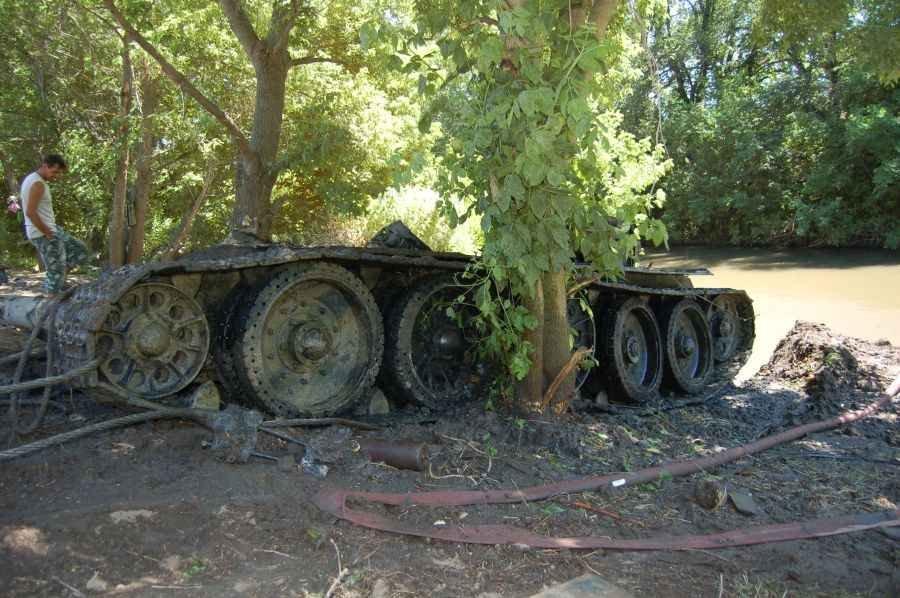 Найденный танк Т-34 Поисковым Объединением «МИУС-ФРОНТ»