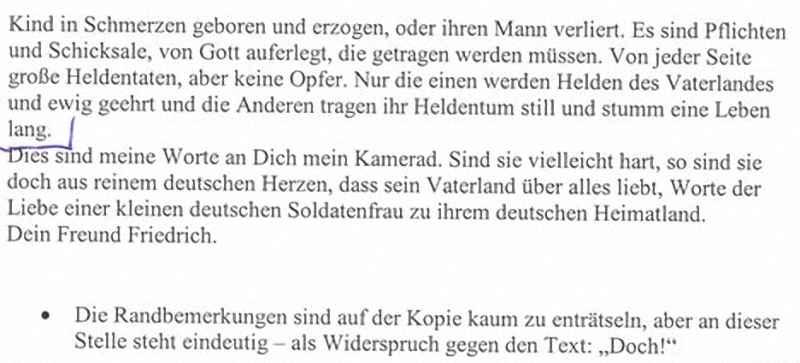 Письмо на фронт офицеру вермахта