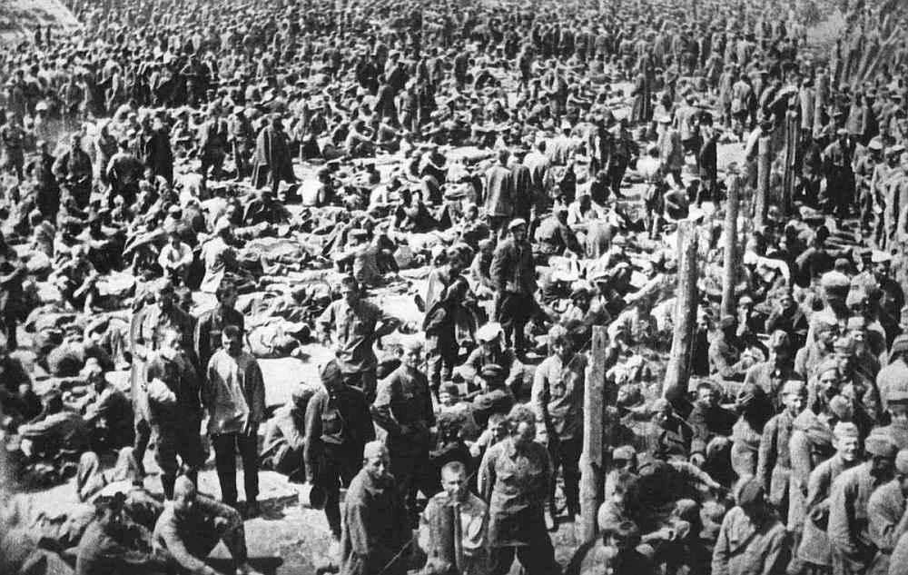 Концлагерь с советскими военнопленными