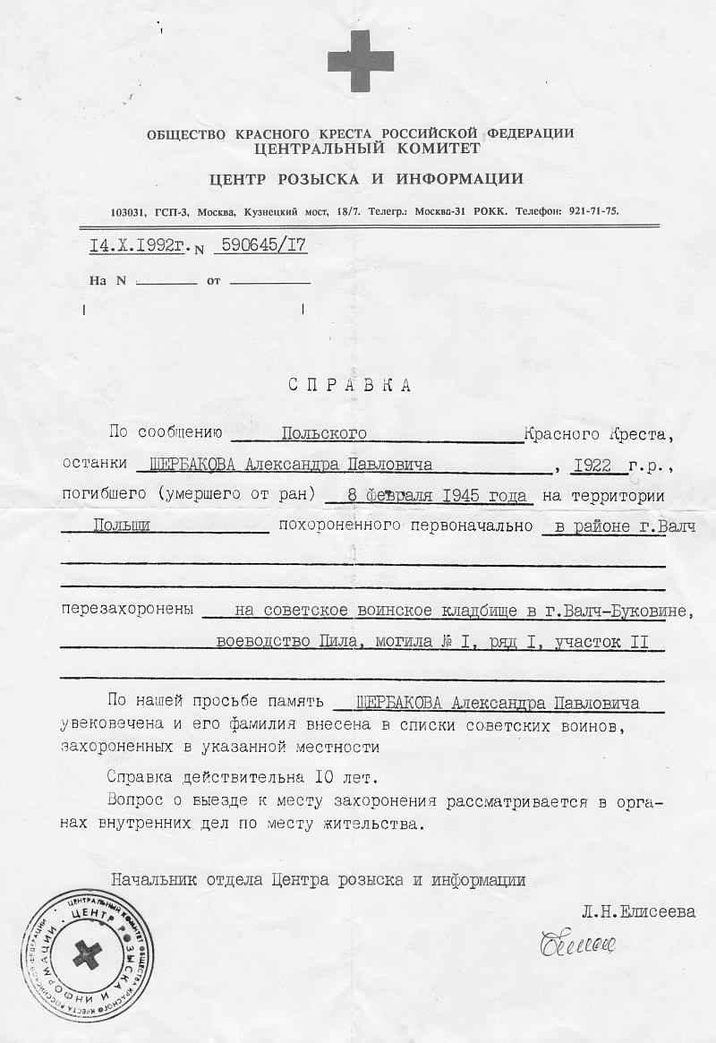 Щербаков Александр Павлович
