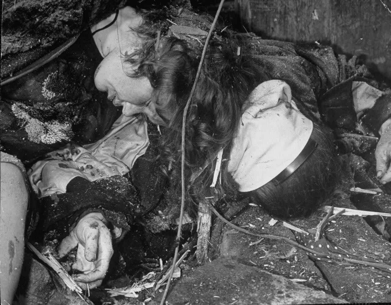 Москва 1941 год, жертвы немецкого воздушного налёта