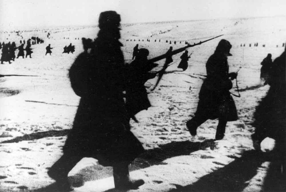 Сталинград: советские пехотинцы в бою