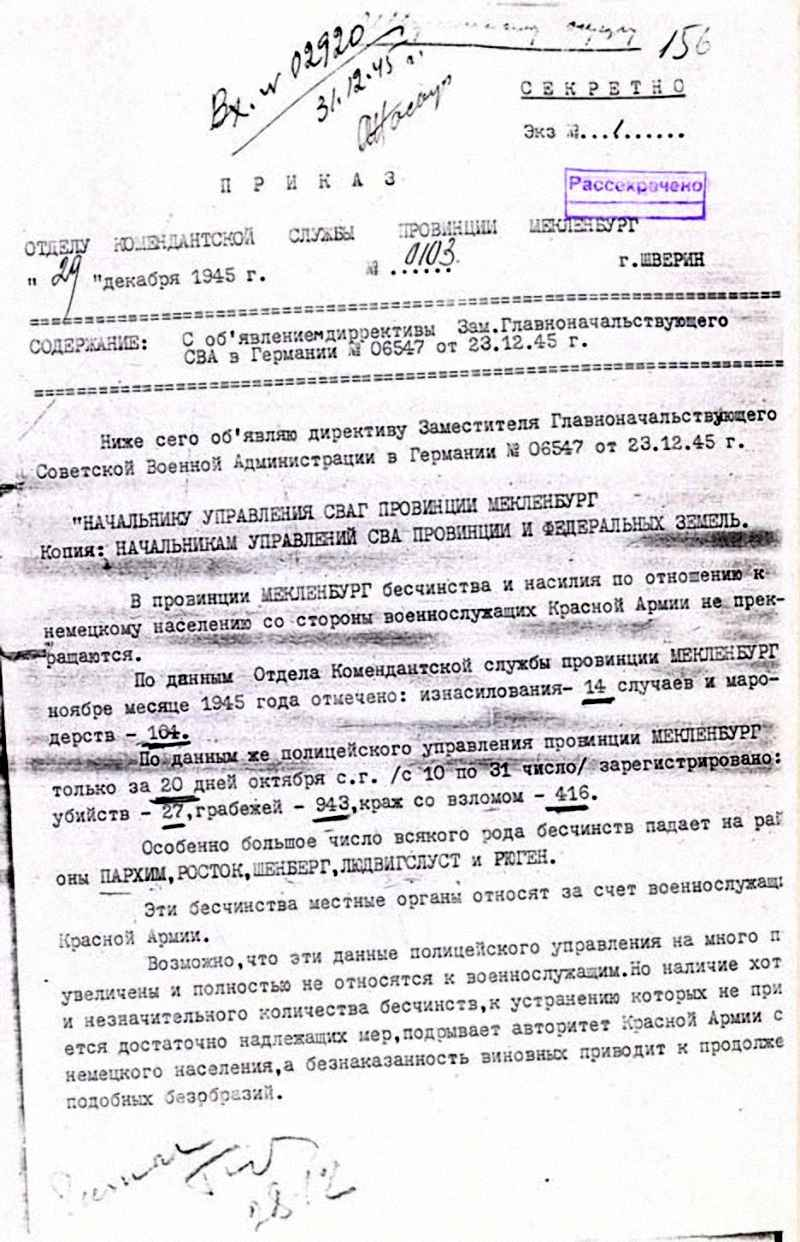 Директива Заместителя Главноначальствующего Советской Военной Администрации в Германии