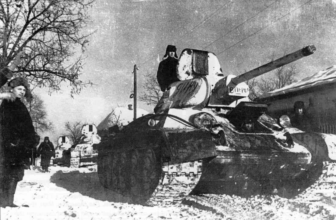 Советские войска в освобождённом Изюме