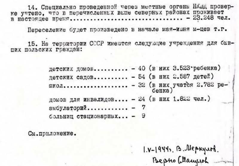 Совершенно секретно: справка по учету бывших польских граждан