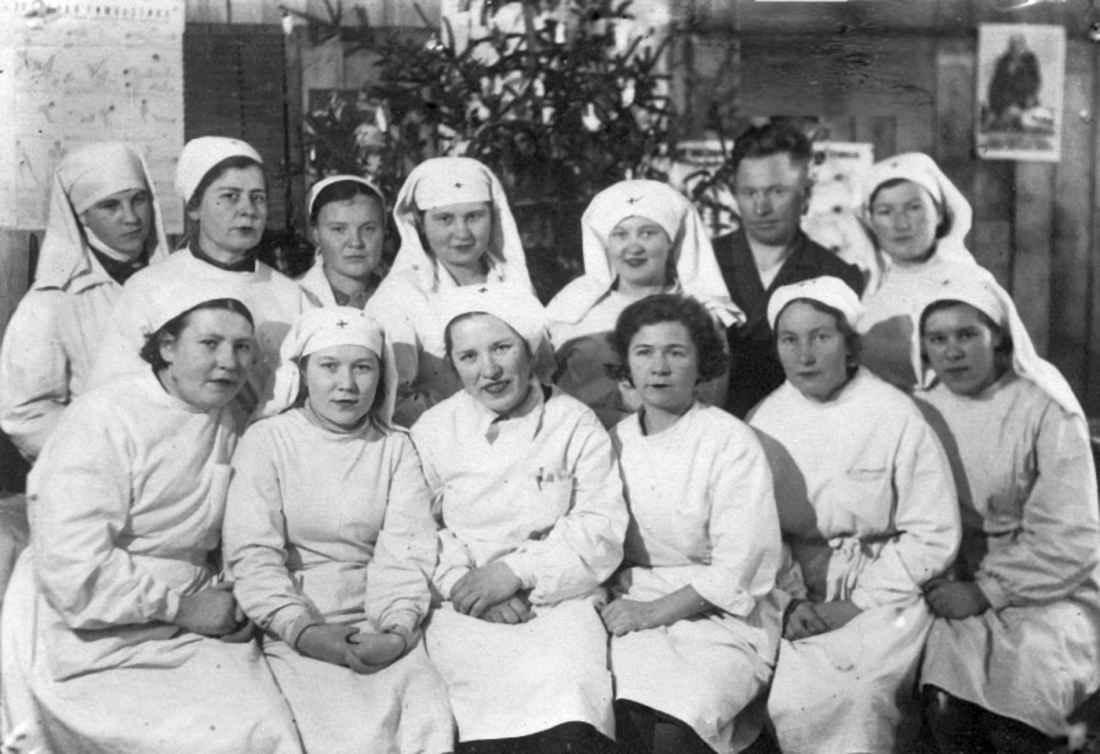 Медперсонал эвакуационного госпиталя №2821