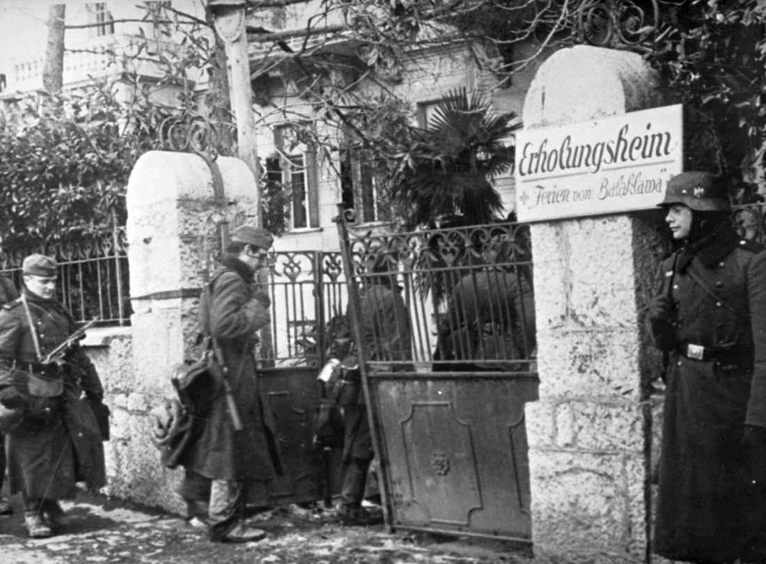 Немецкие солдаты в Балаклаве
