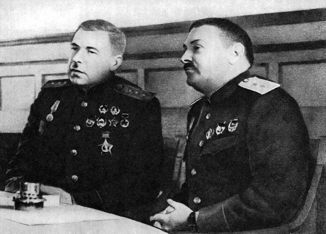 Л. А. Говоров и А. А. Жданов