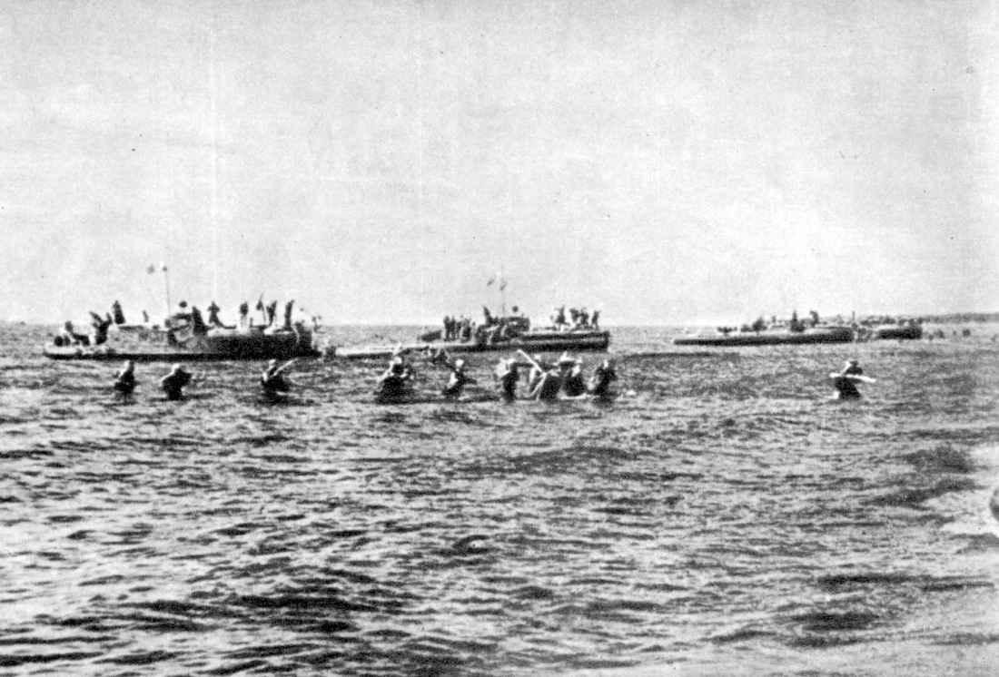 Высадка морского десанта у села Видлица