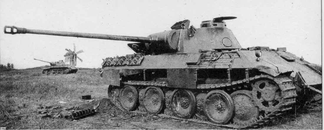 Брошенные немецкие танки под Прохоровкой