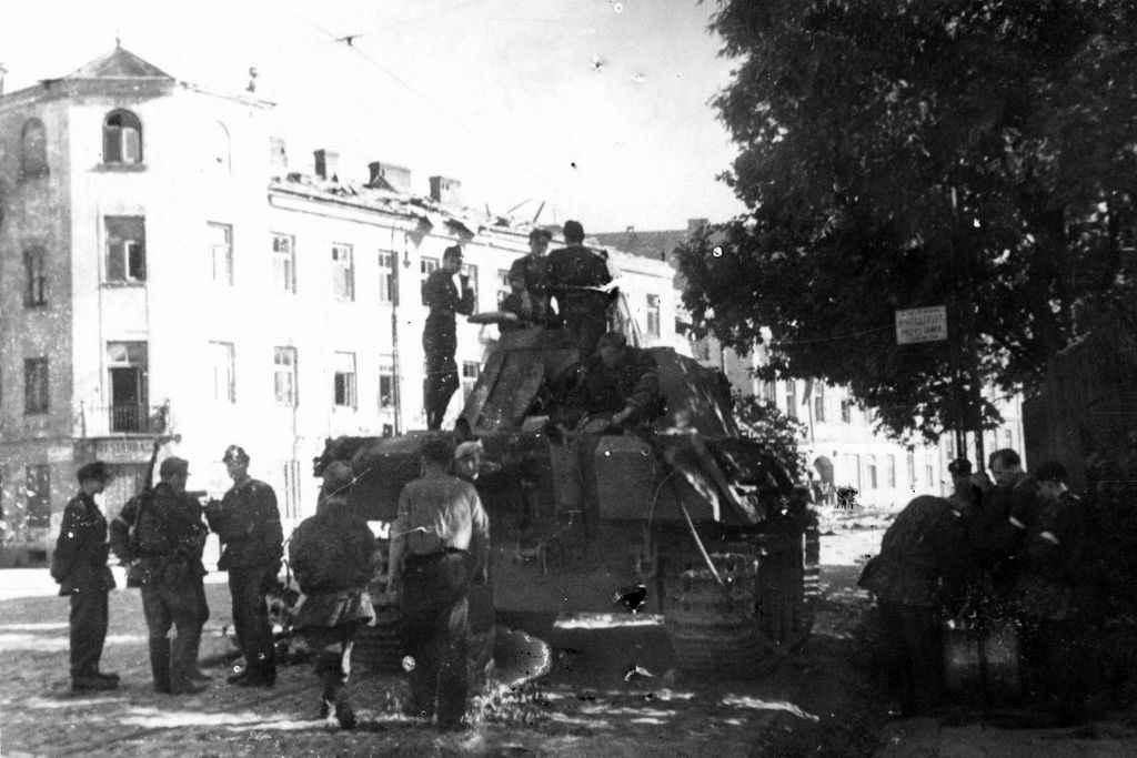 Польские повстанцы в Варшаве