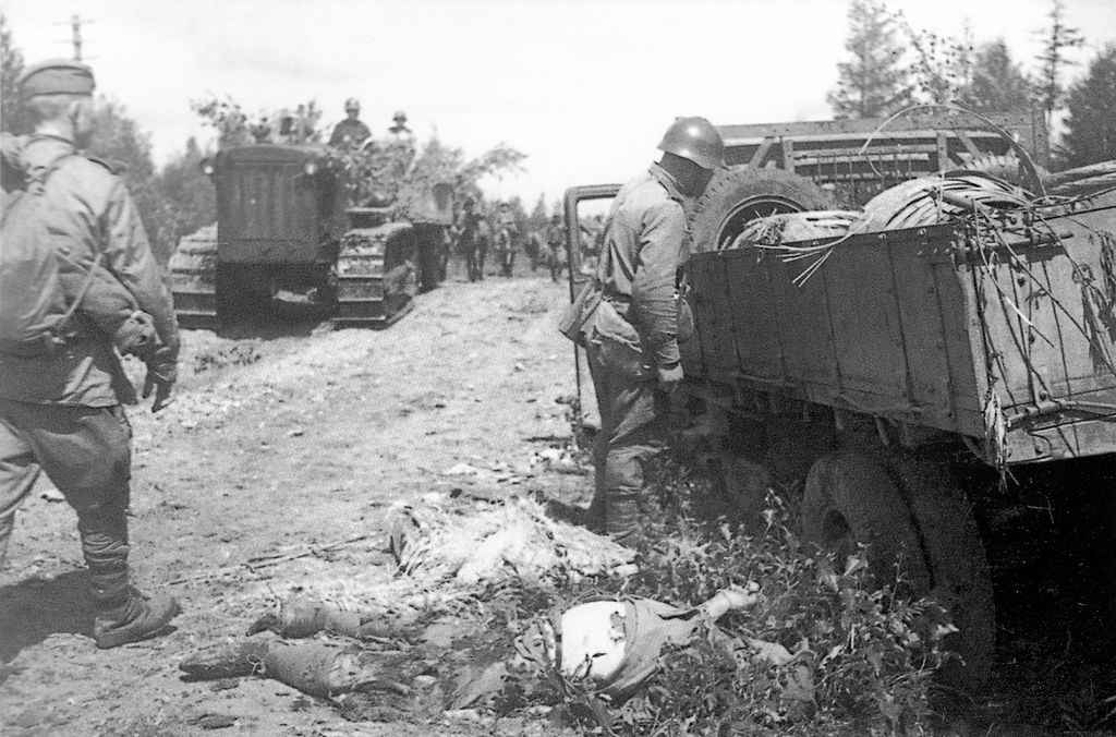 Убитый японский солдат на Сахалине
