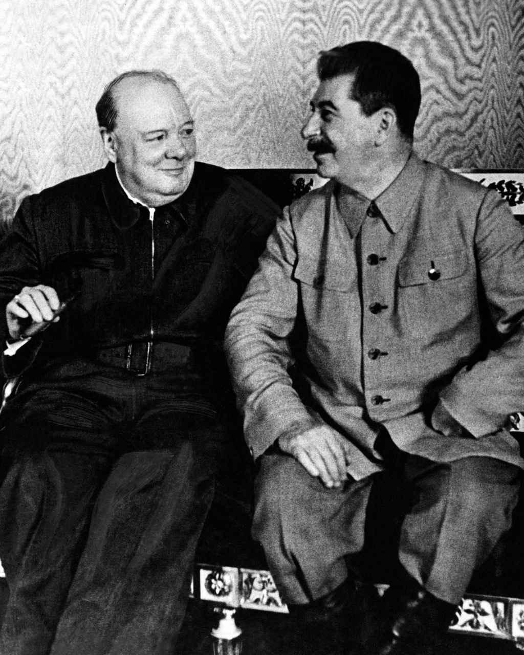 У. Черчилль в Кремле на переговорах со И.В. Сталиным