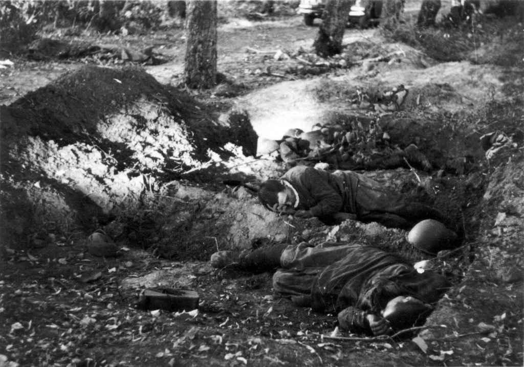 Погибшие в бою в районе Гомеля красноармейцы