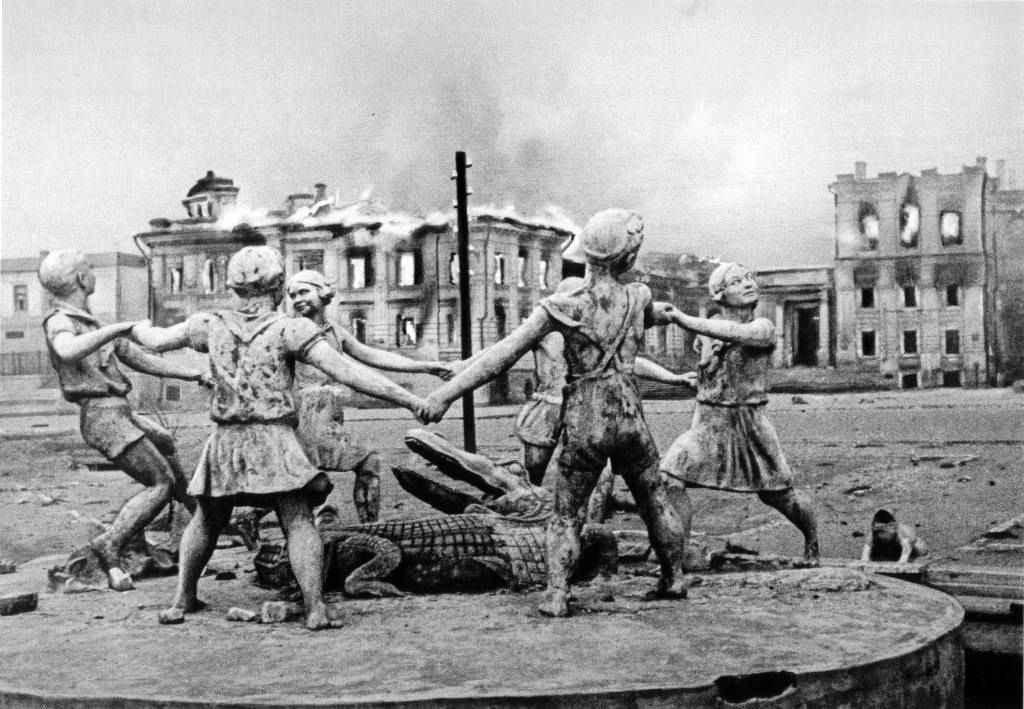 Сталинград после налета немецкой авиации